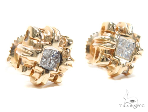 Invisible Diamond Earrings 40952 Stone