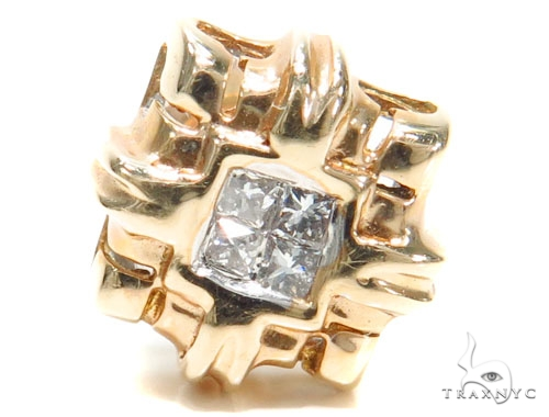 Invisible Diamond Earrings 40952 Stone