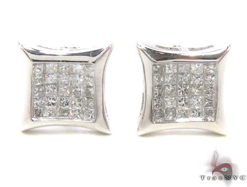 Invisible Diamond Earrings 35238 Stone
