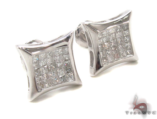 Invisible Diamond Earrings 35238 Stone