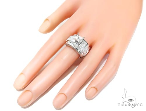 Invisible Diamond Semi Mount Engagement Ring 42134 Engagement