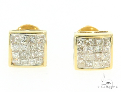 Invisible Diamond Square Earrings 44292 Style
