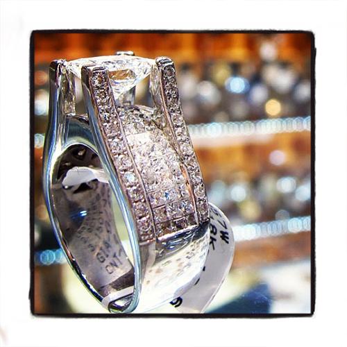 Invisible Diamond Wedding Ring 37786 Engagement
