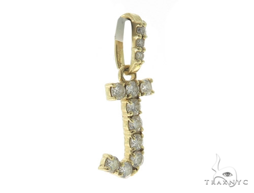 J Initial Diamond Pendant 49447 Metal