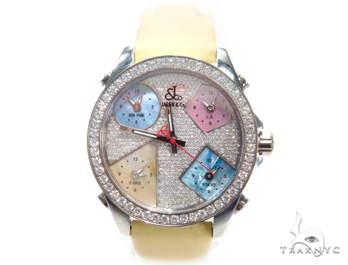 JACOB & Co Five Time Zone Diamond Watch JCM44 40999 JACOB & Co