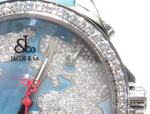 JACOB & Co Five Time Zone Diamond Watch JCM47WM 41008 JACOB & Co