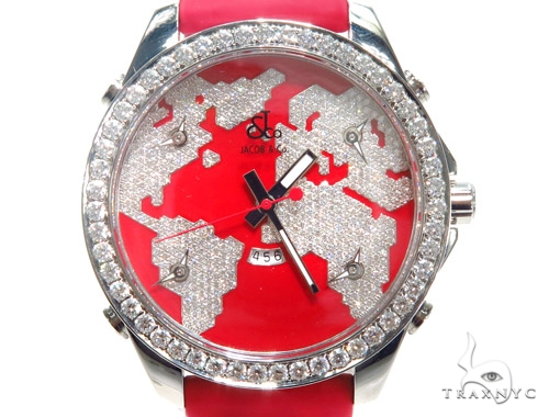 Jacob & Co. JC47SR Five Time Zone Continent  Watch 40996 ジェイコブ JACOB & Co
