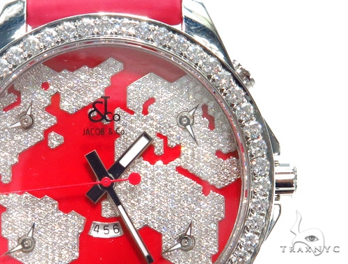 Jacob & Co. JC47SR Five Time Zone Continent  Watch 40996 JACOB & Co