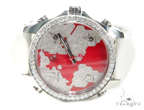 Jacob & Co. JCM47SR Five Time Zone Continent Watch 40994 JACOB & Co