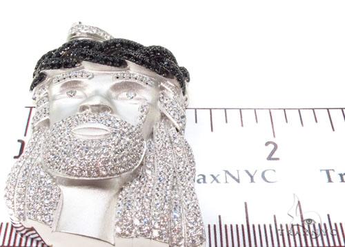 Jesus Crown of Thorns Silver Matte Pendant 36531 Metal
