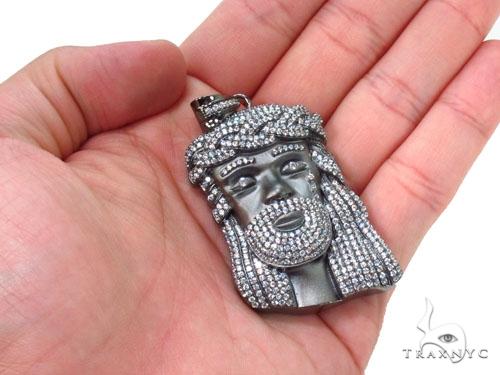 Jesus Crown of Thorns Silver Matte Pendant 36532 Metal