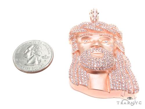 Jesus Crown of Thorns Silver Matte Pendant 36534 Metal