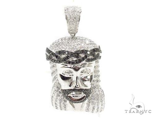 Jesus crown of thorns pendant 36617 mens diamond jesus piece white jesus crown of thorns pendant 36617 mens diamond jesus piece white gold 14k aloadofball Image collections