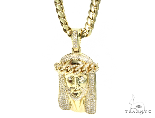 Jesus Diamond Miami Cuban n Set 44986 Metal