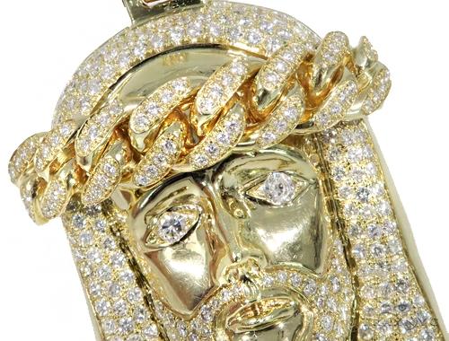 Jesus Diamond  Miami Cuban Chain Set 44986 Metal