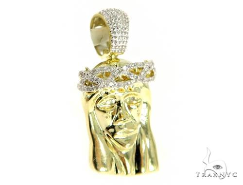 Jesus Diamond Pendant 49588 Metal