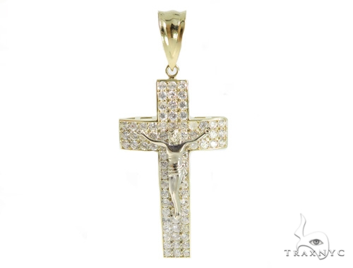 Jesus Gold Cross 49437 Gold