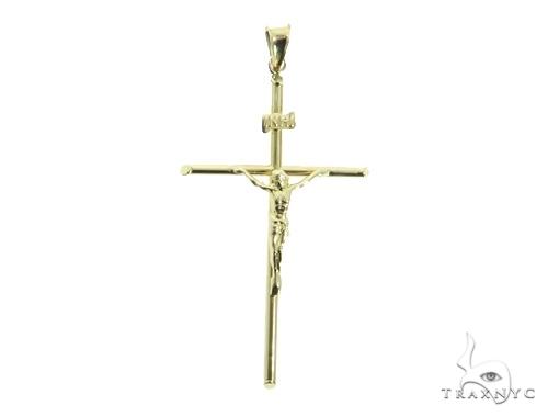 Jesus Gold Cross 49498 Gold