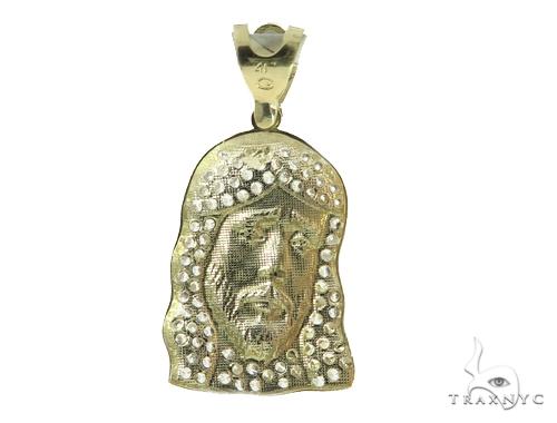 Jesus Gold Pendant and Chain Set 49581 Metal