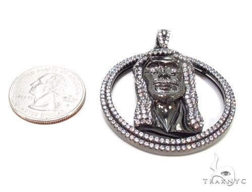 Jesus Head Silver Pendant 36597 Metal