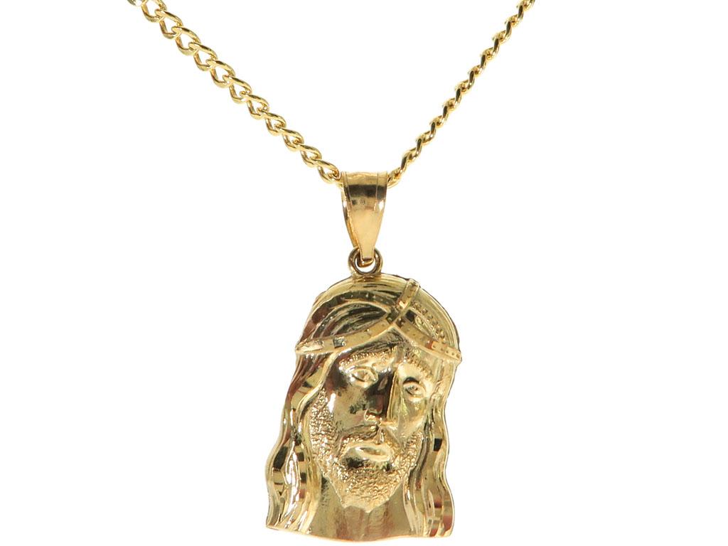 Jesus Piece 20 Inches Cuban Link Chain Set 61812 Mens ...