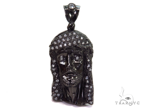 Jesus Sterling Silver Pendant 40666 Metal