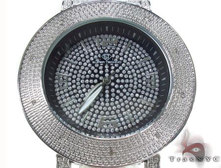 Super Techno Mens Diamond Watch M-6084 Mens Cheap Diamond Watches