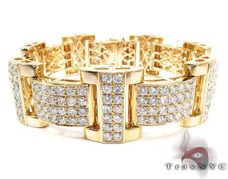 Jupiter Diamond with Yellow Gold Bracelet Mens Diamond Yellow Gold 14k