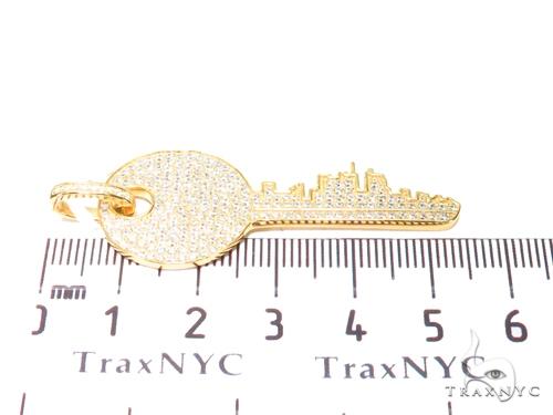Key Sterling Silver Pendant 41154 Metal