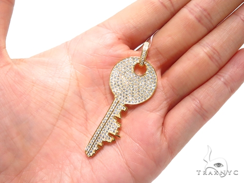 Key Sterling Silver Pendant 41154 Metal