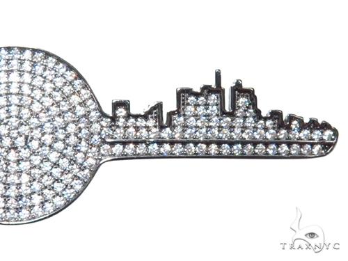 Key Sterling Silver Pendant 41155 Metal