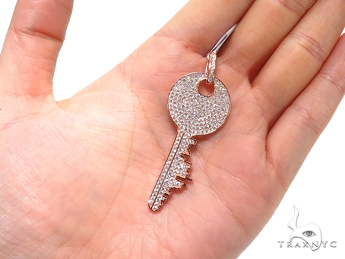 Key Sterling Silver Pendant 41156 Metal