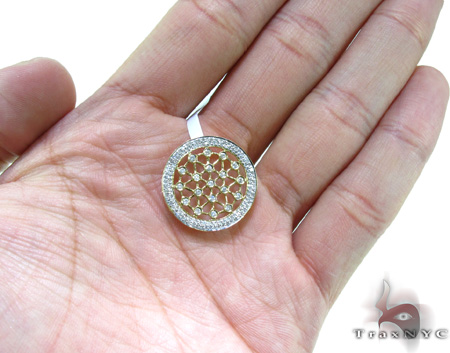 Ladies Bezel Prong Diamond Pendant 21539 Stone