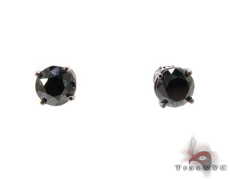 Ladies Black Diamond Earrings 21109 Style