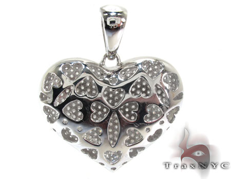 Ladies Bubble Heart Diamond Pendant 22281 Stone