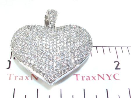 Ladies Bubble Heart Diamond Pendant 22281 Stone