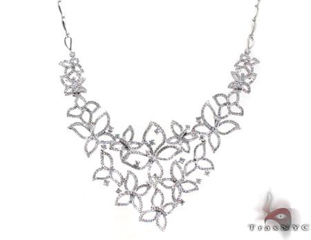 Ladies Butterflies Diamond Necklace 20599 Diamond