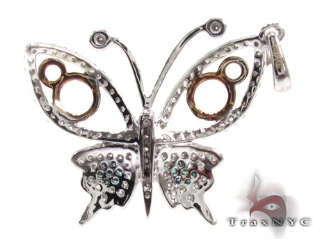Ladies Butterfly Diamond Pendant 21501 Stone