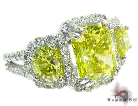 Ladies Canary Bridge Ring Anniversary/Fashion