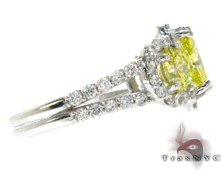 Ladies Canary Bridge Ring Anniversary/Fashion