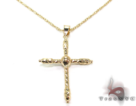 Ladies Cross Pendant 21547 ゴールドクロス