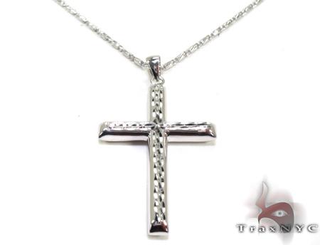 Mens Cross Pendant 21551 Gold