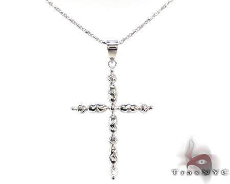 Ladies Cross Crucifix Pendant 21555 ゴールドクロス
