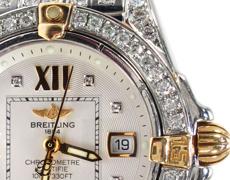 Ladies Diamond Breitling Windrider Cockpit Watch Breitling