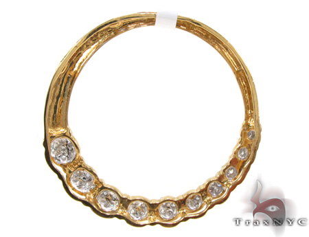 Ladies Diamond Circle Pendant 21484 Stone
