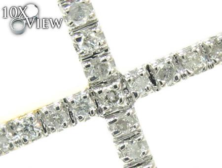 Ladies Yellow Gold Diamond Cross 21479 Style
