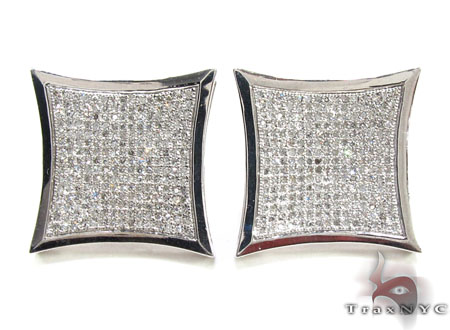 Mens Diamond Earrings 21646 Stone