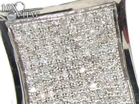 Mens Diamond Earrings 21648 Stone