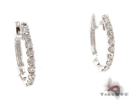 Ladies Diamond Hoop Earrings 22005 Style