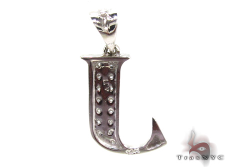 Ladies Diamond Initial J Pendant 21537 Stone